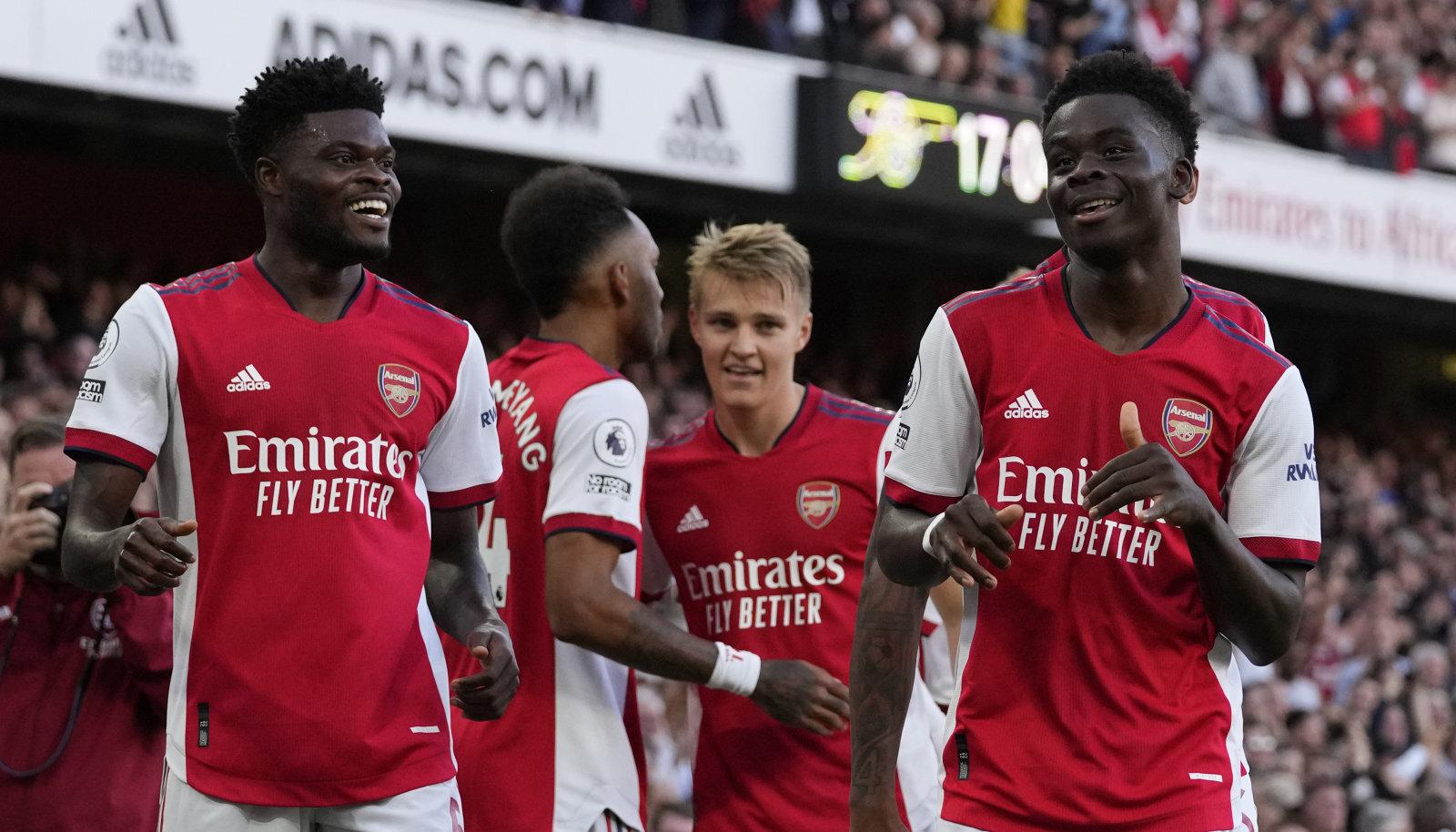Bukayo Saka (paremal) aitas Arsenali võidule.