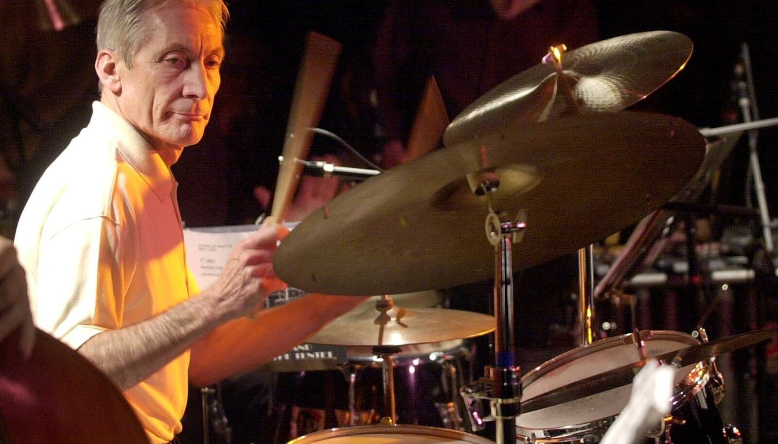 FILE PHOTO: BRITISH ROLLING STONES POP STAR CHARLIE WATTS DURING HIS CONCERT IN BARCELONA.