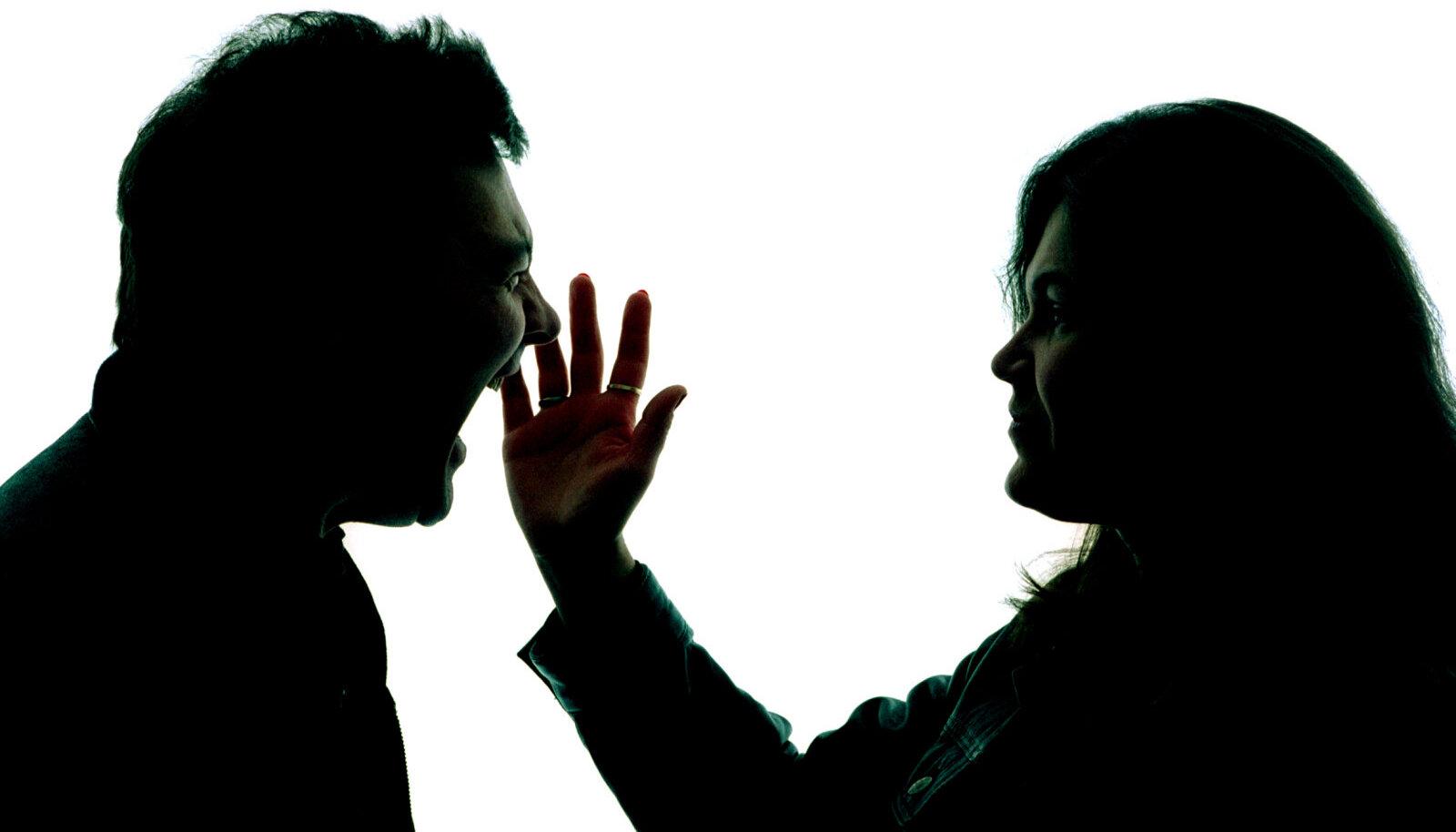 Mehe ja naise tüli. Pilt on illustratiivne.