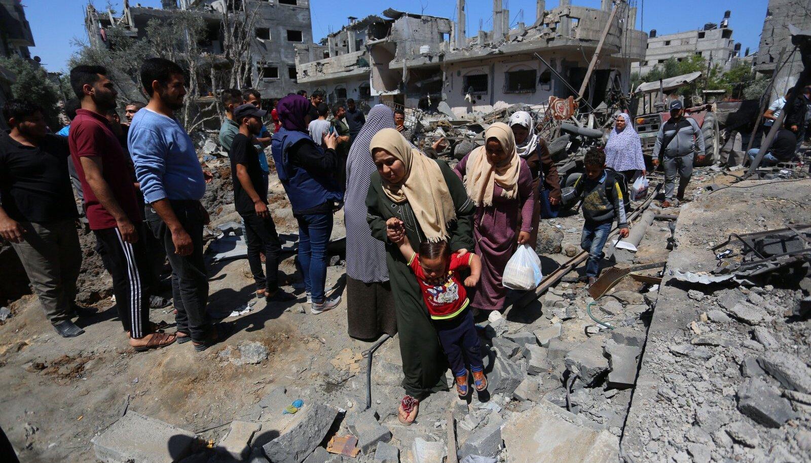 Olukord Gazas pärast Iisraeli õhurünnakut