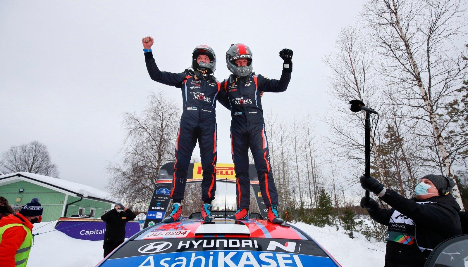 Martin Järveoja ja Ott Tänak võitsid viimati toimunud Arktika MM-ralli.
