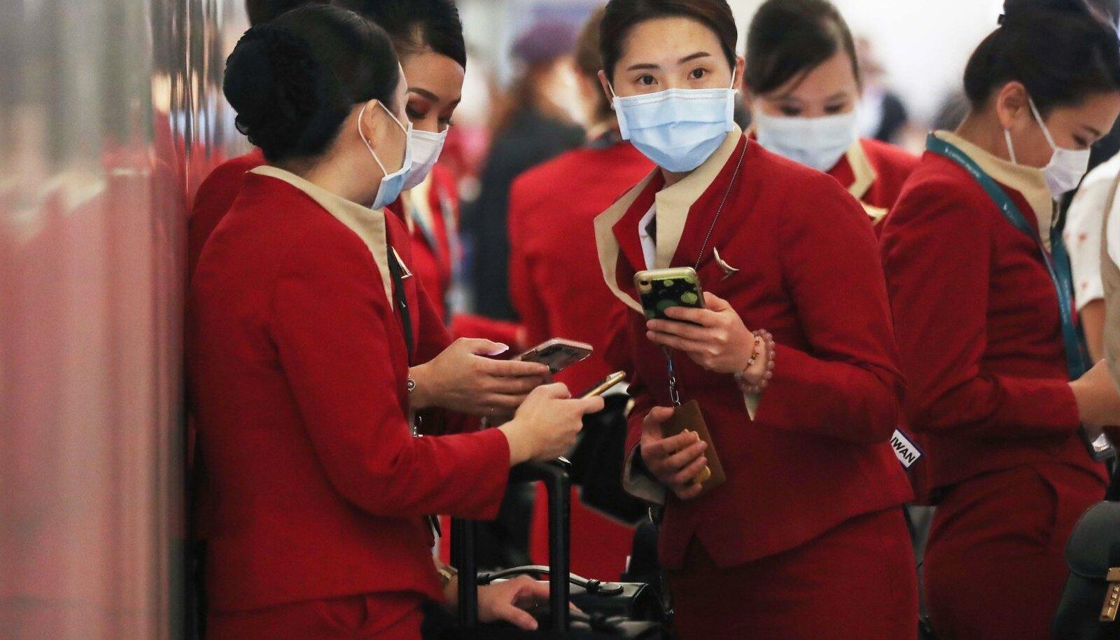 TÖÖHÄIRE: Cathay Pacificu reissaatjad 28. veebruaril Los angelese lennujaamas.