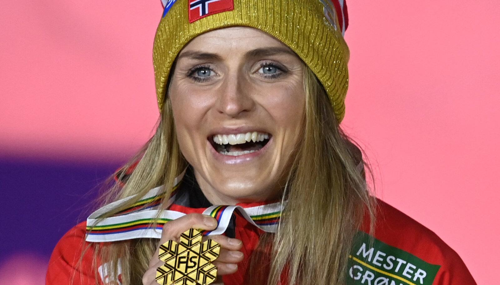 Therese Johaug tänavusel MMil kuldmedaliga