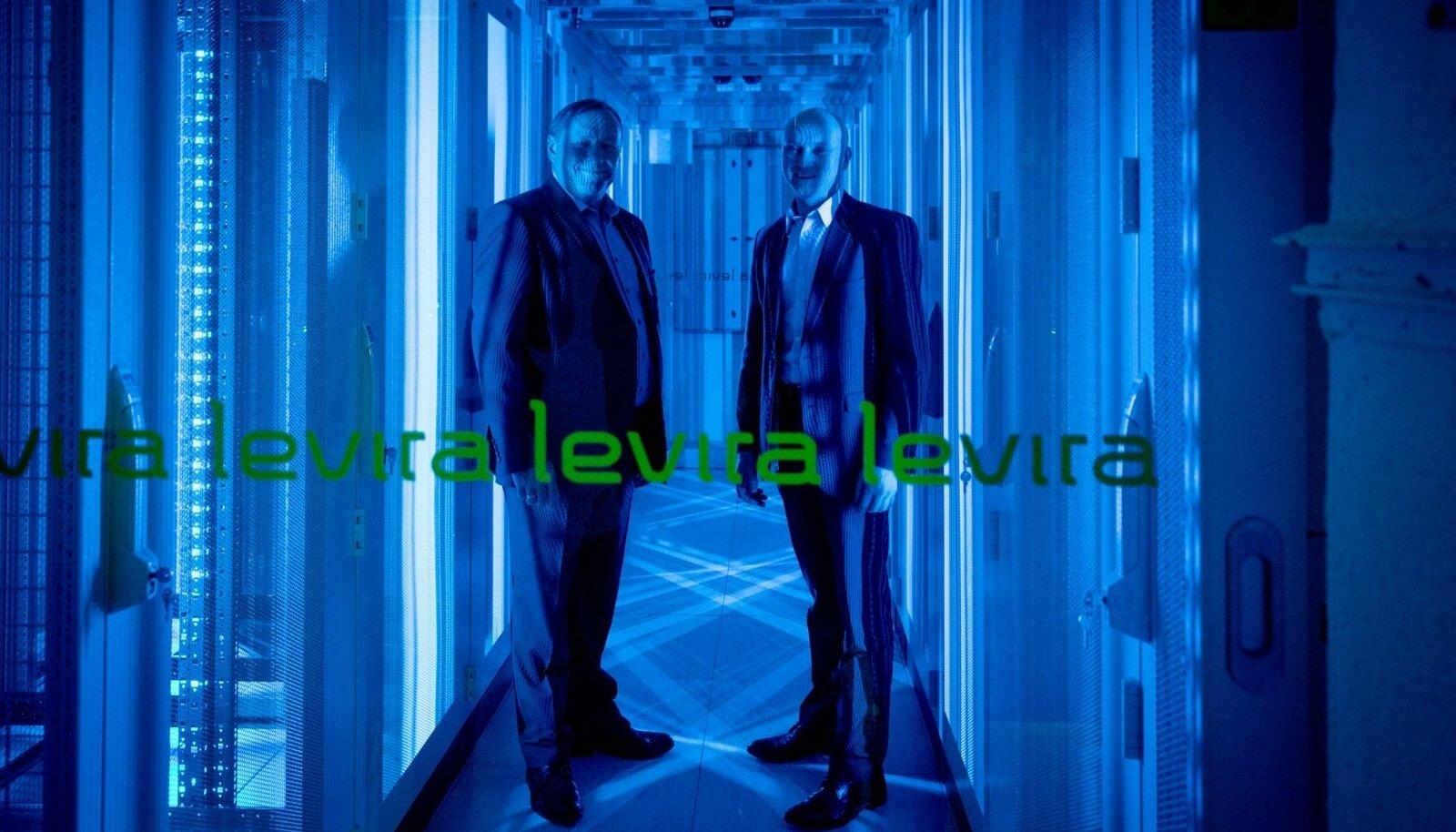 Levira juhatuse esimees Tiit Tammiste (vasakul) ja Levira pilveteenuste divisjoni direktor Margus Uustalu