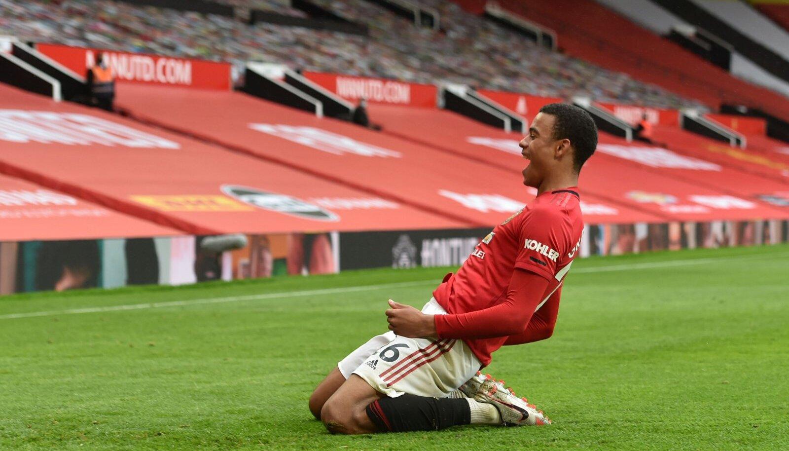 18-aastane Mason Greenwood lõi Unitedi kasuks kaks väravat.