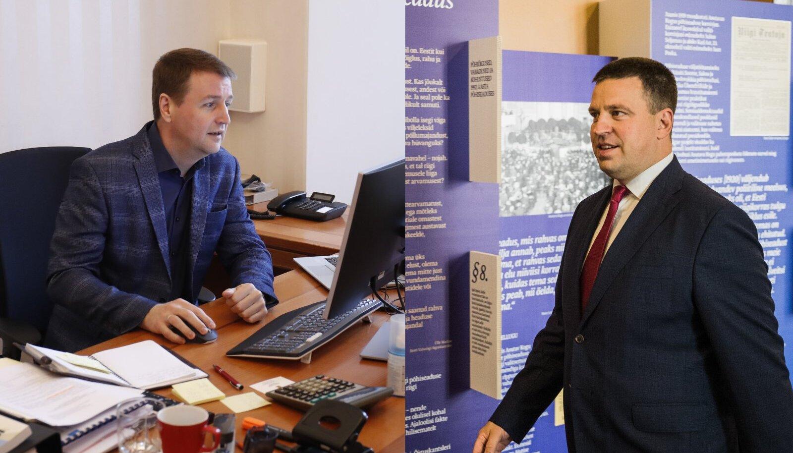Eduard Odinets (SDE) ja Jüri Ratas (KE).