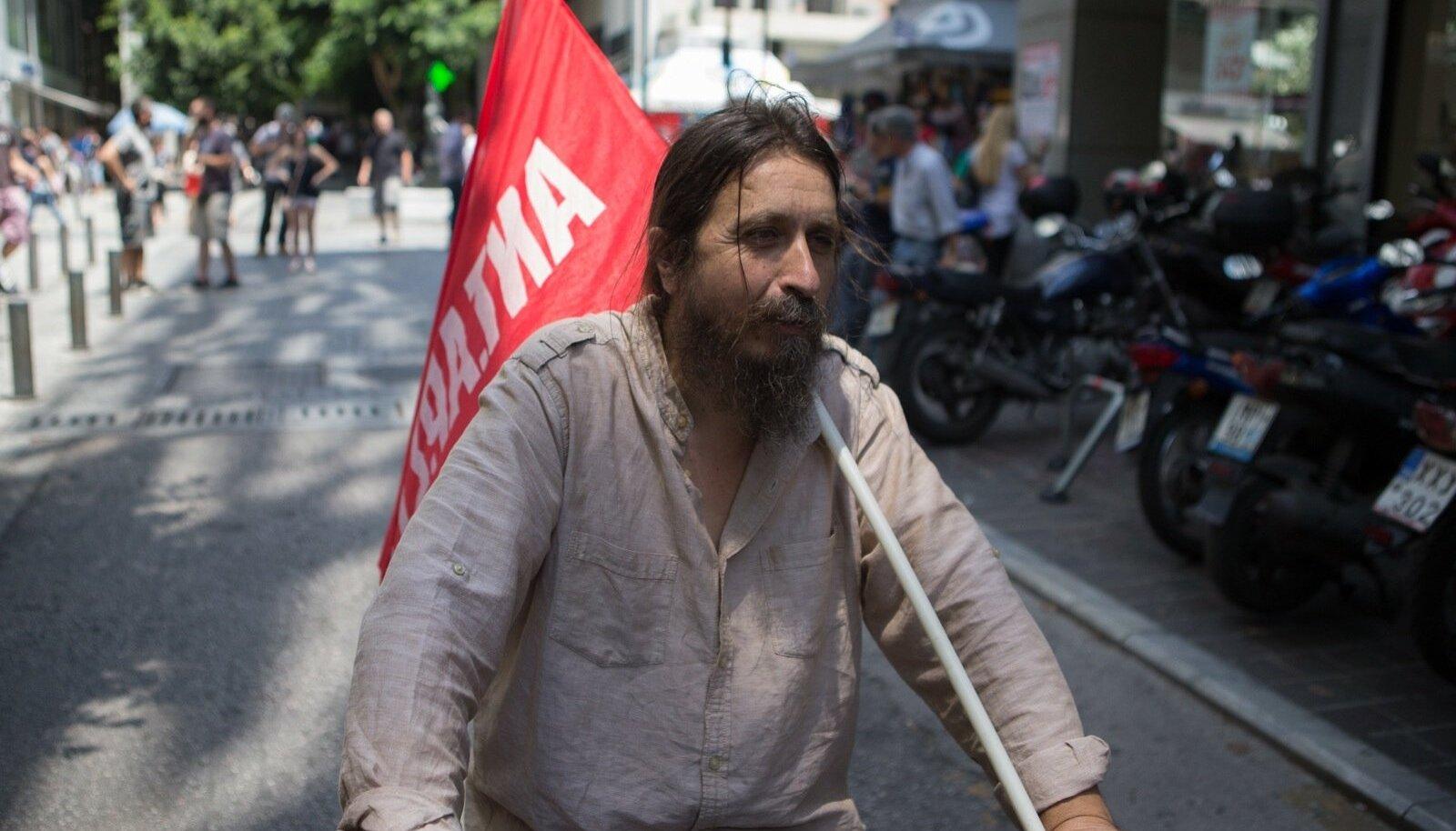 Keskpäevane meeleavaldus Ateena tänavatel