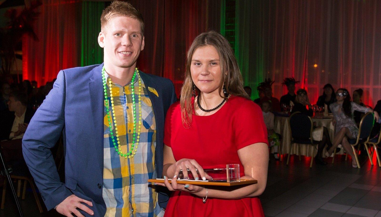 Eesti aasta parimad ujujad: Martin Liivamägi ja Maria Romanjuk.