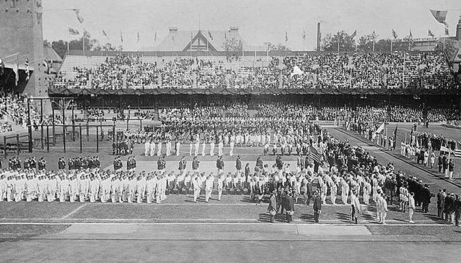 1912 olümpiamängude avamine Stockholmis