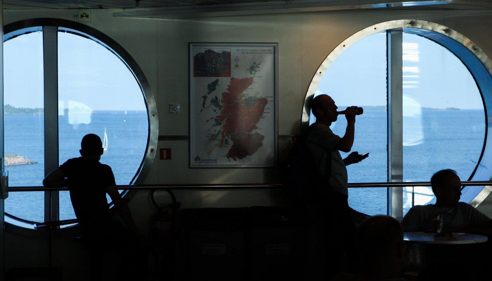 Laevaga Soome tööle sõitmine on kalevipoegadele juba tavaliseks saanud.