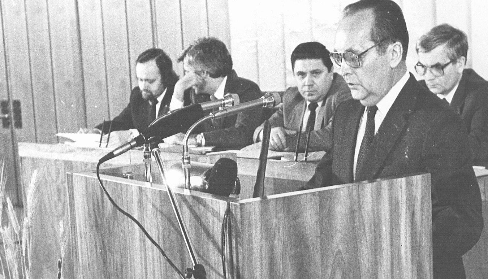Vaino Väljas Ülemnõukogus 1988. a detsembris
