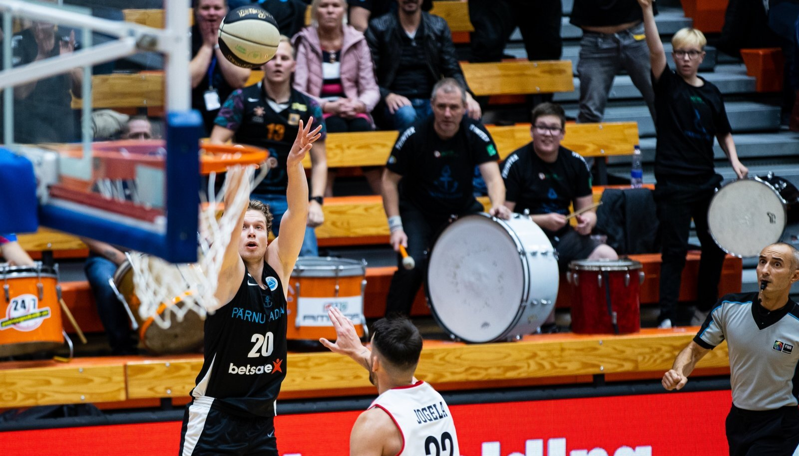 Pärnu, 28.09.2021. Korvpalli FIBA Europe Cupi valikturniiri veerandfinaalis kohtusid oma vahel Pärnu Sadam ja Viini GGMT.
