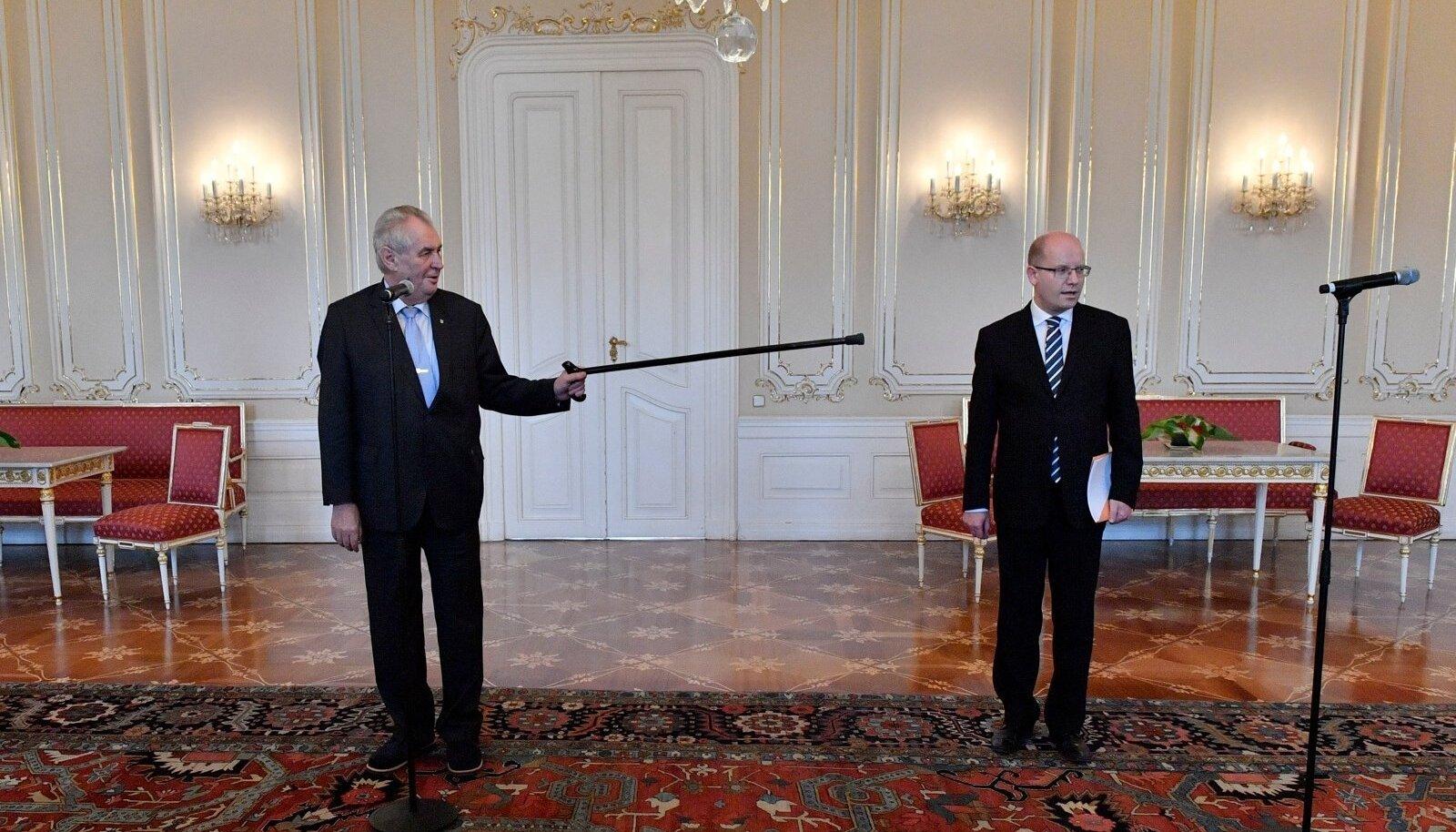 Miloš Zeman ja Bohuslav Sobotka