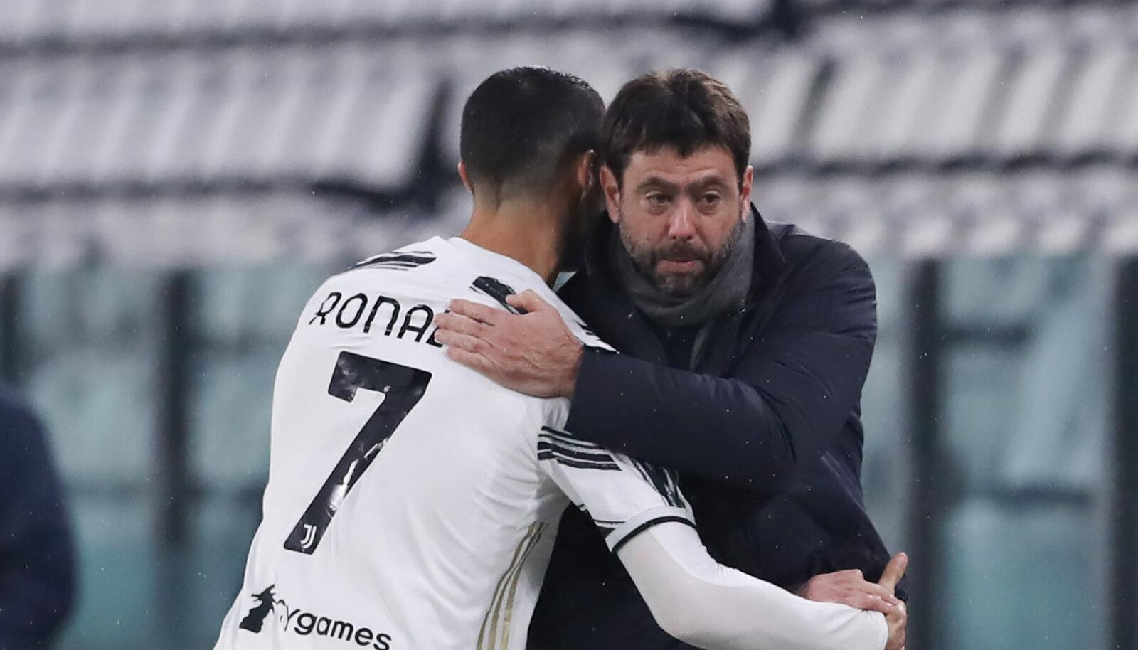 Andrea Agnelli koos Juventuse ründaja Cristiano Ronaldoga.