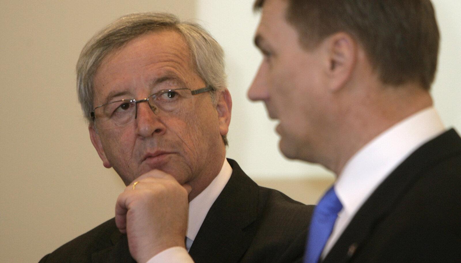 Jean-Claude Juncker ja Andrus Ansip
