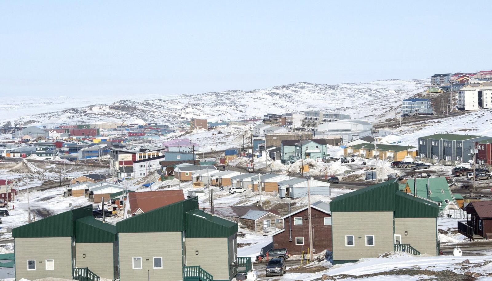 Illustreerival eesmärgil pildike Nunavuti pealinnast Iqaluit'ist (Foto: The Canadian Press, PA Images / Scanpix)