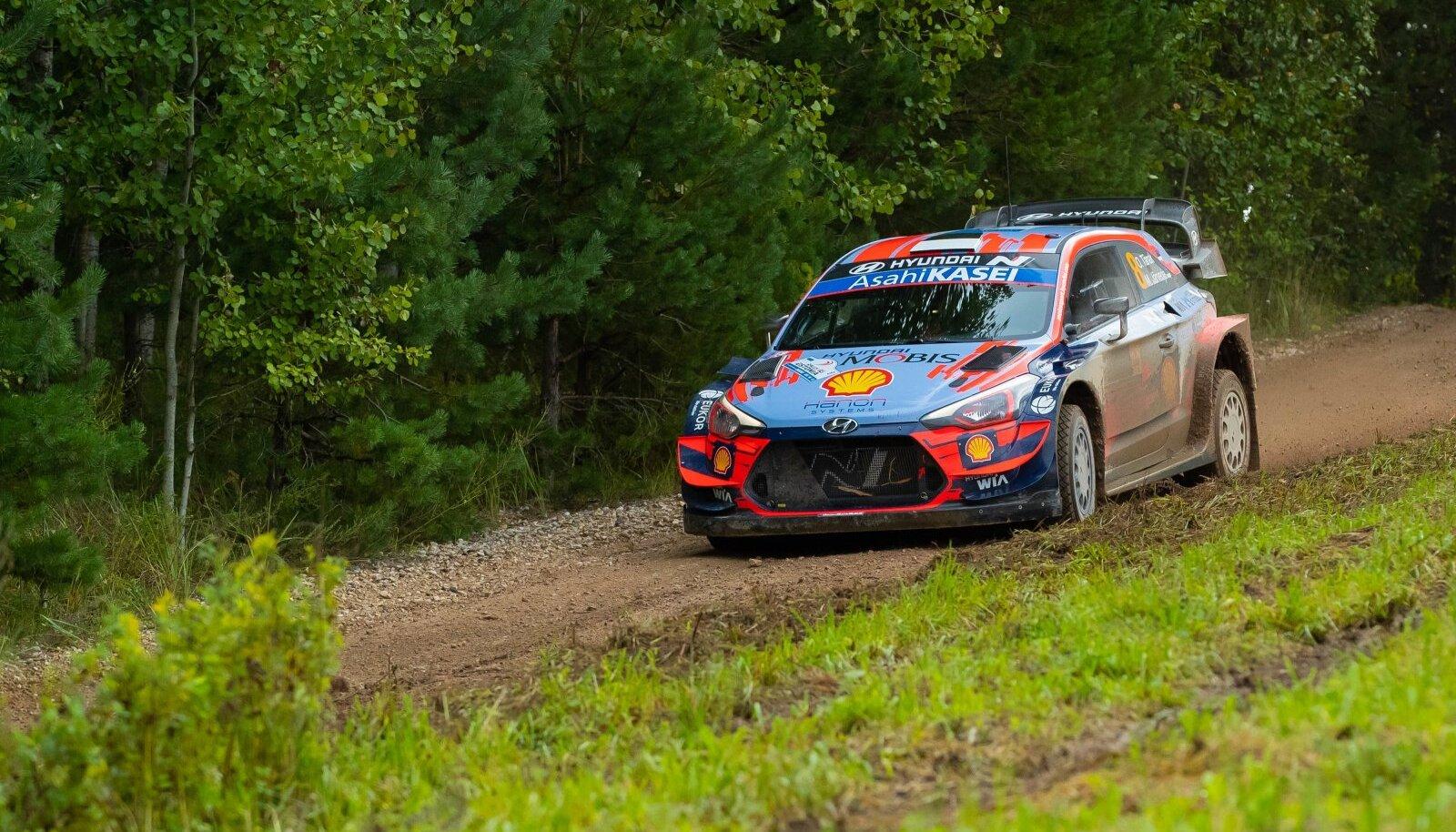 Ott Tänak ja Martin Järveoja 2020. aasta Rally Estonial.