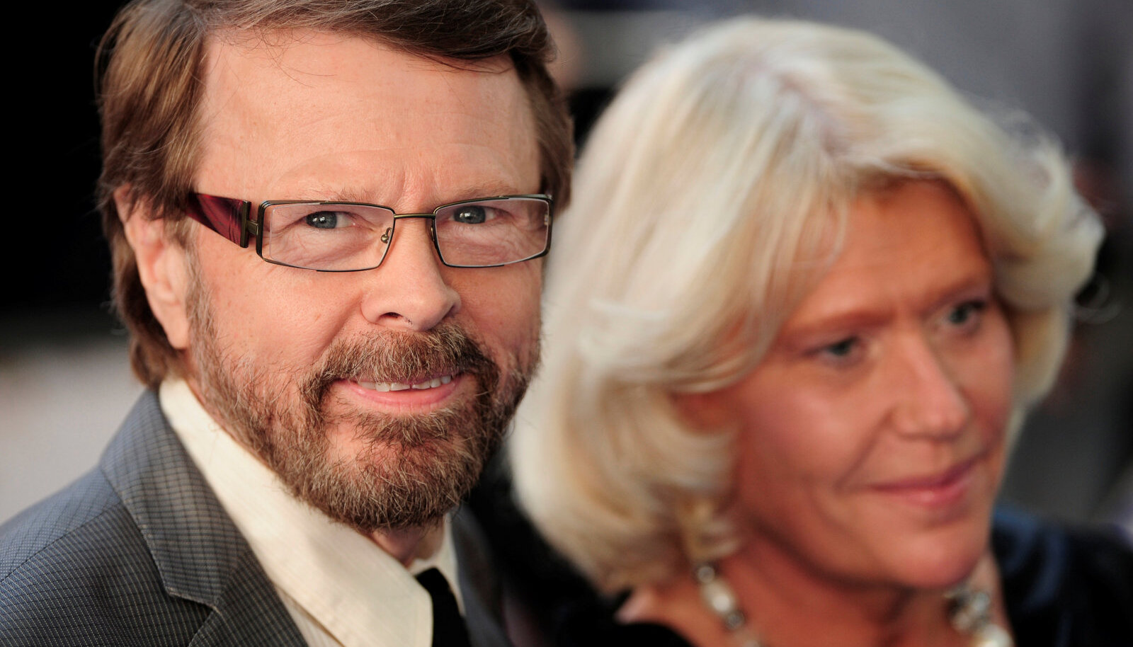 Björn Ulvaeus and his wife Lena