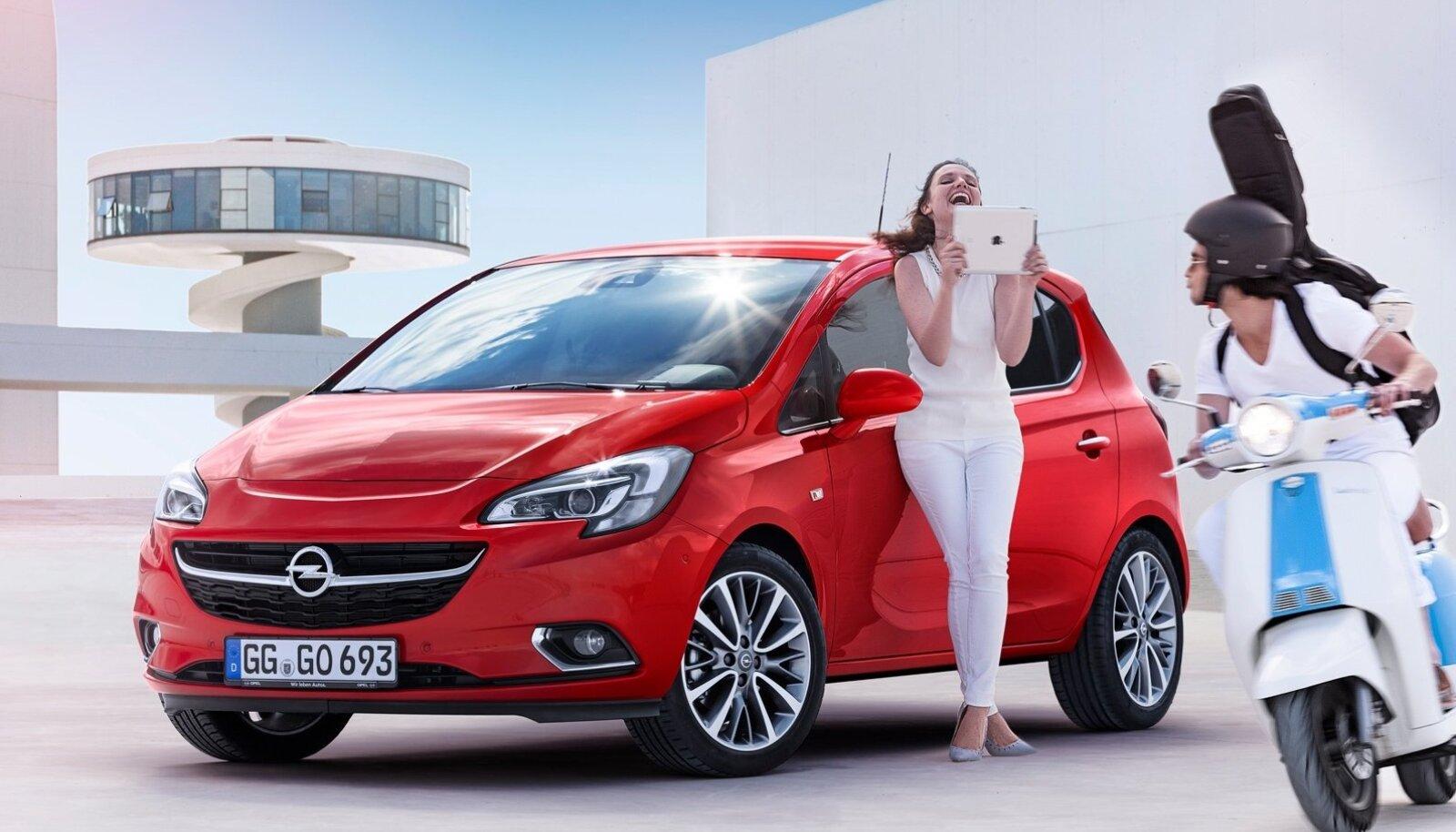 Opel Corsa välimus muutus rõõmsamaks ja auto varustusse lisati moodsaid nutiseadmeid.