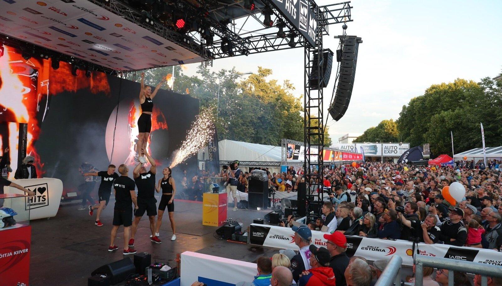 Rally Estonia avamine.