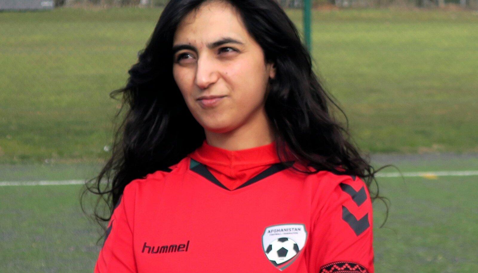 Afganistani jalgpallinaiskonna endine kapten Khalida Popal.