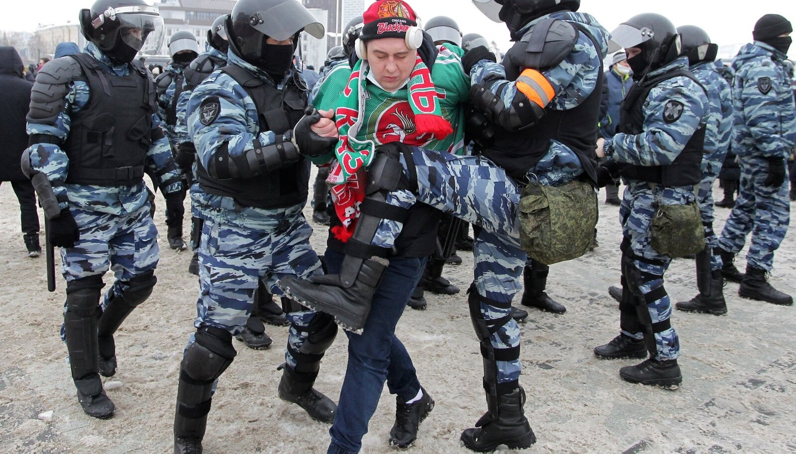 Rally in support of Alexei Navalny in Kazan