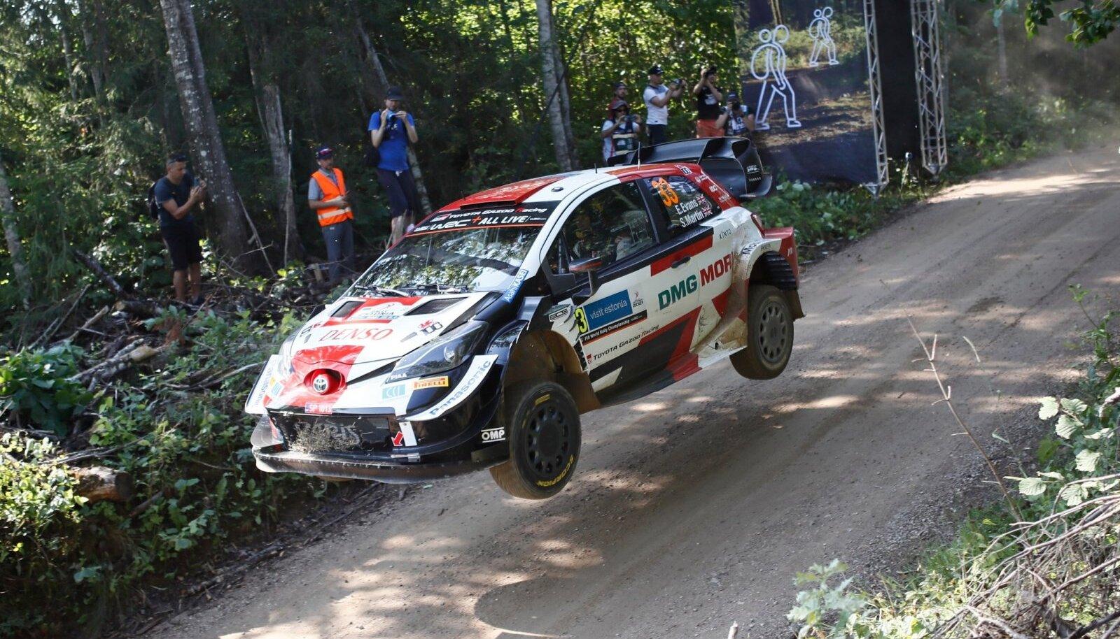 Elfyn Evans tänavuse Rally Estonia testikatsel.