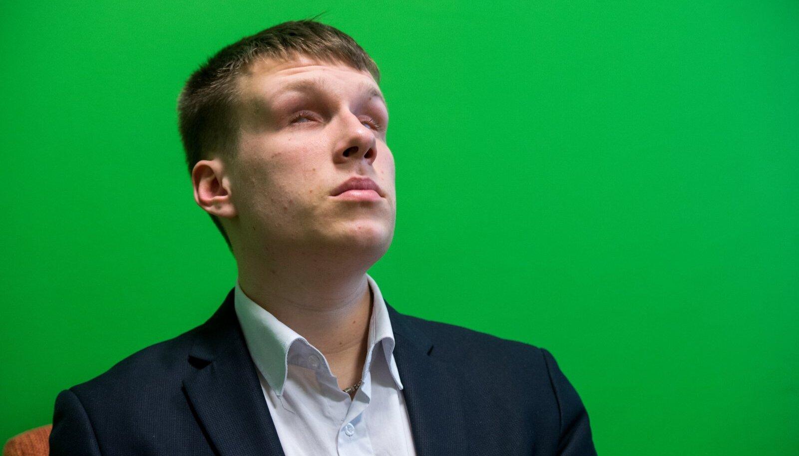 Eesti Pimedate Liidu esimees Jakob Rosin