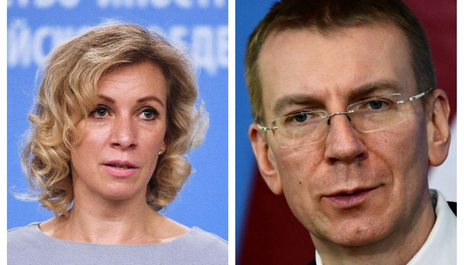 Maria Zahharova ja Edgars Rinkēvičs