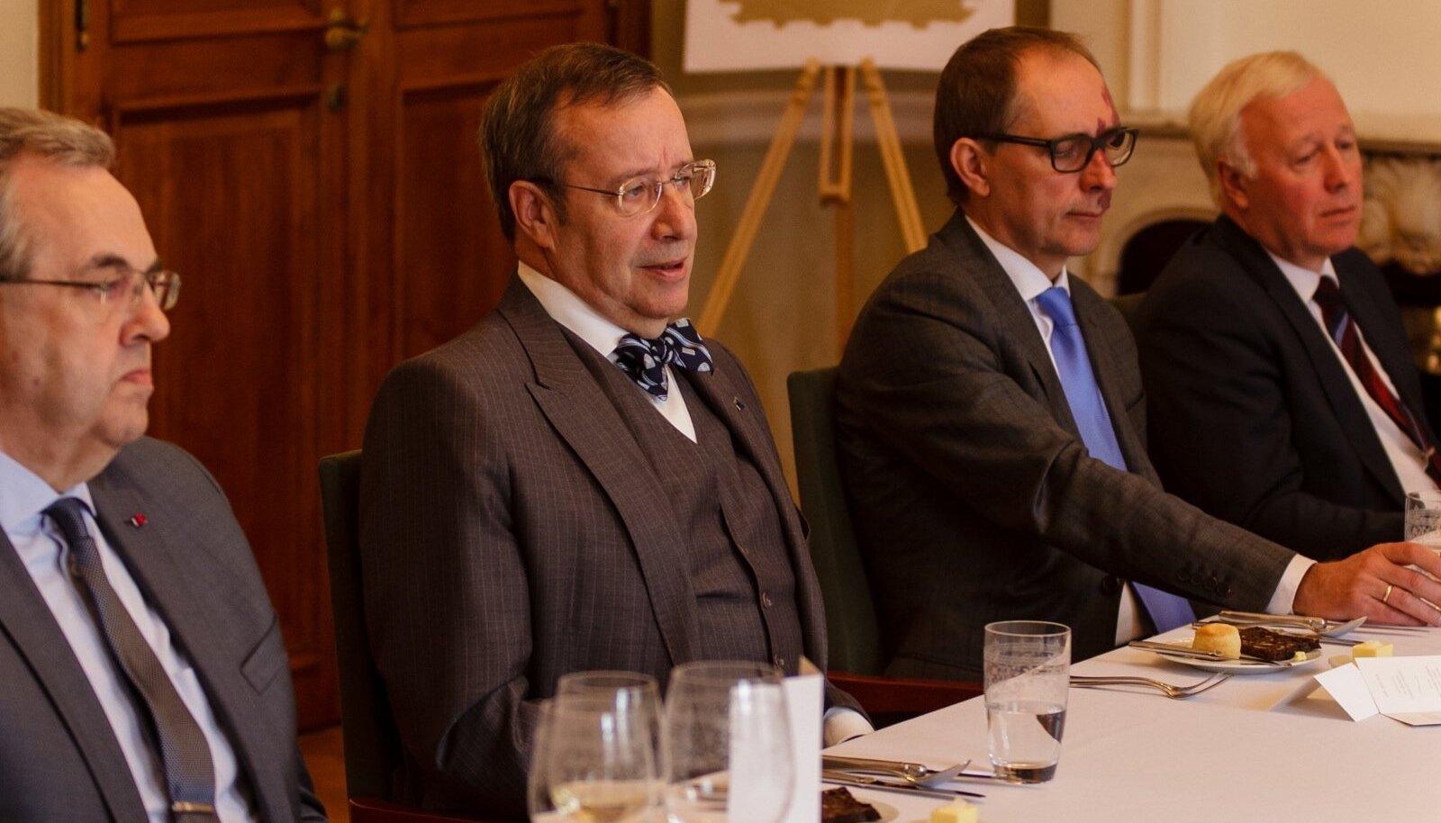 President Toomas Hendrik Ilvese ja Kaubanduskoja uue juhatuse lõuna