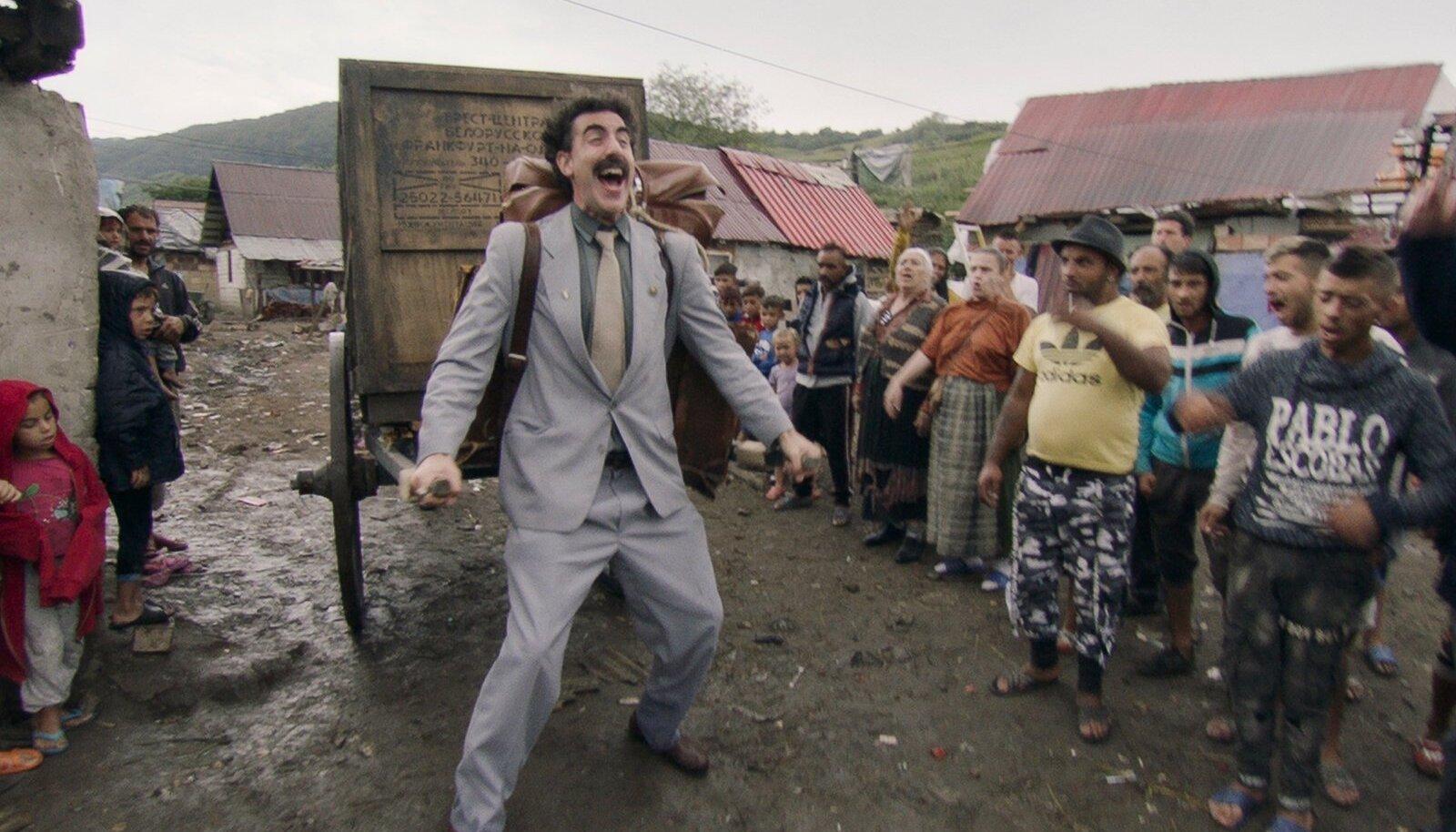 """KASAHSTAN ON LEPPINUD: Kui Borati eelmiste seikluste aegu oli Kasahstan tegelase ja filmi peale tige, et nende rahvust ja riiki sedavõrd poolearulisena kujutatakse, siis praeguseks Kasahstan leppinud ja võtnud enda kui turismimaa promolauseks Borati käibefraasi """"Very nice!""""."""