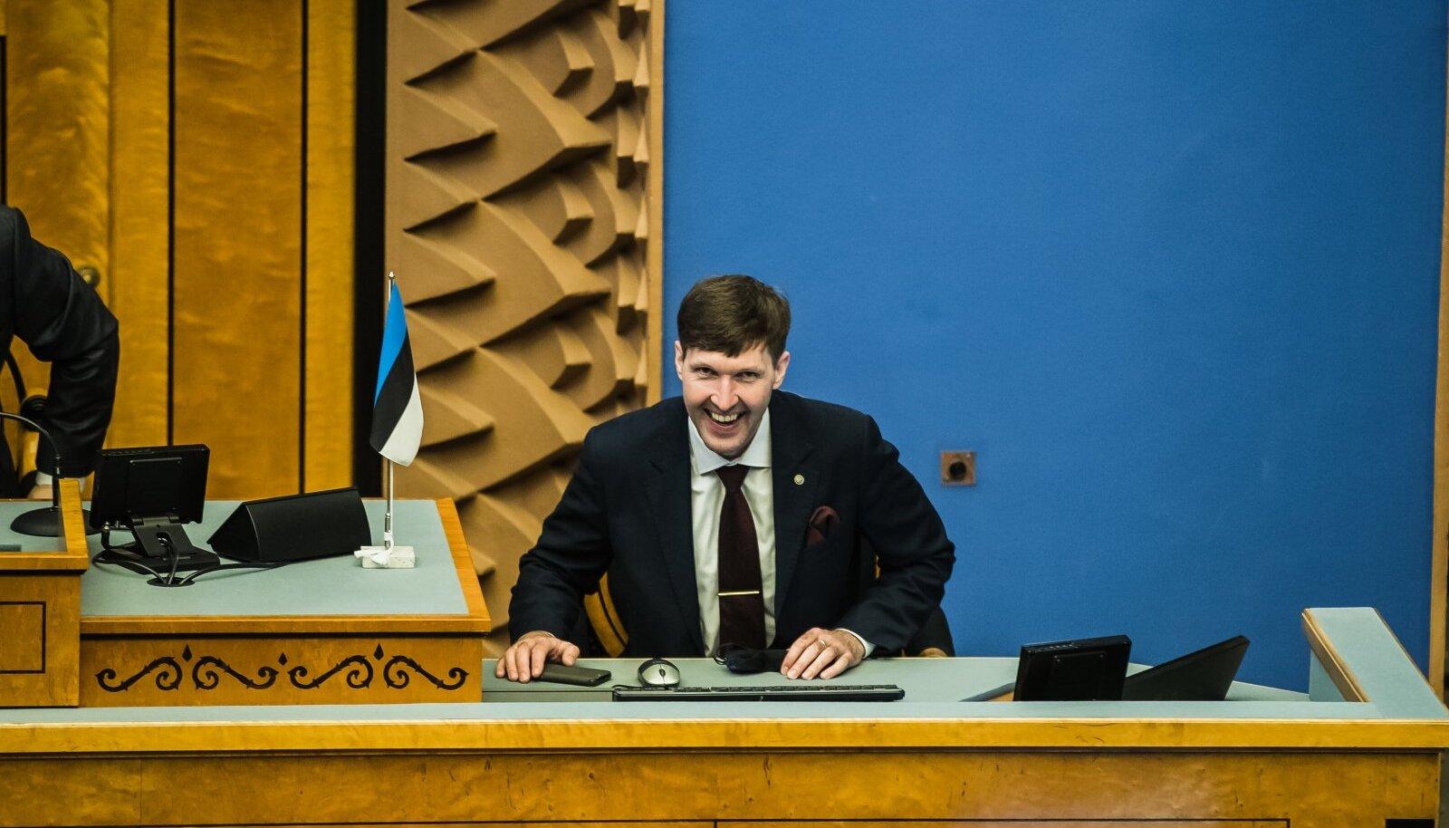 EKRE juht Martin Helme riigikogus