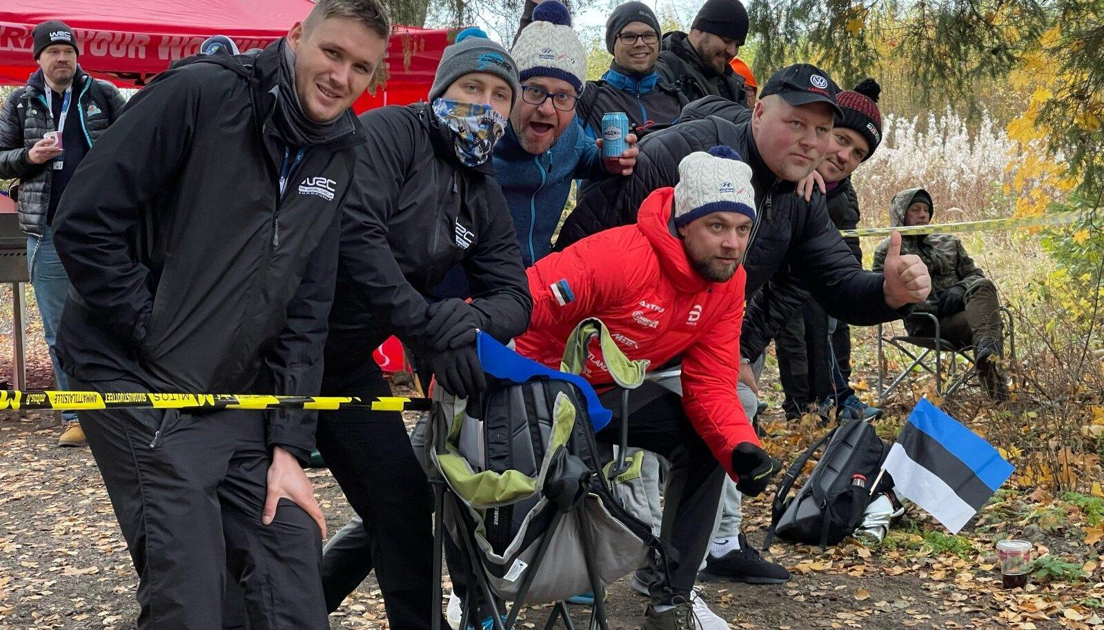 Eesti fännid Soome rallil.