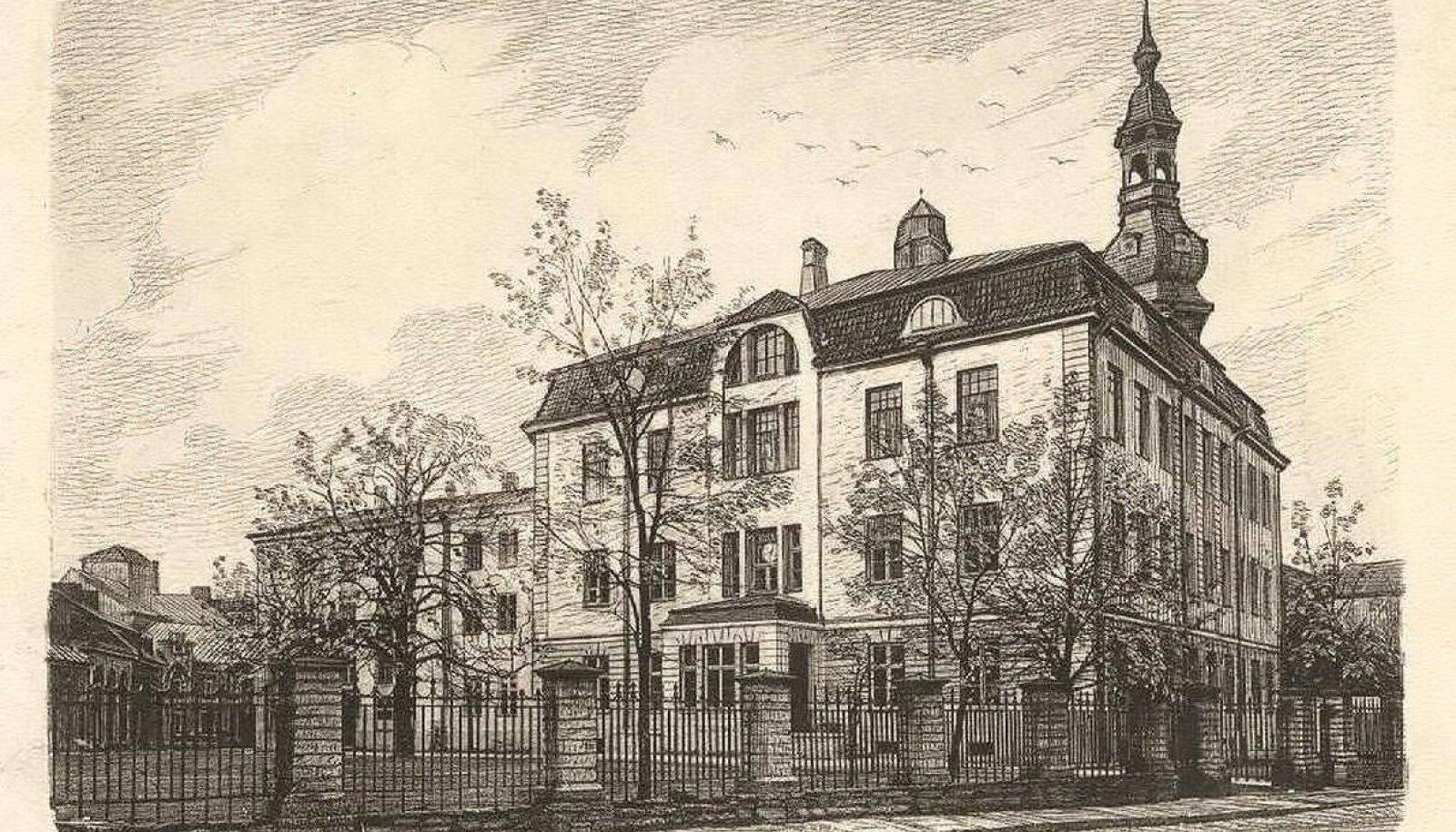 Koolimaja 20. sajandi alguses.