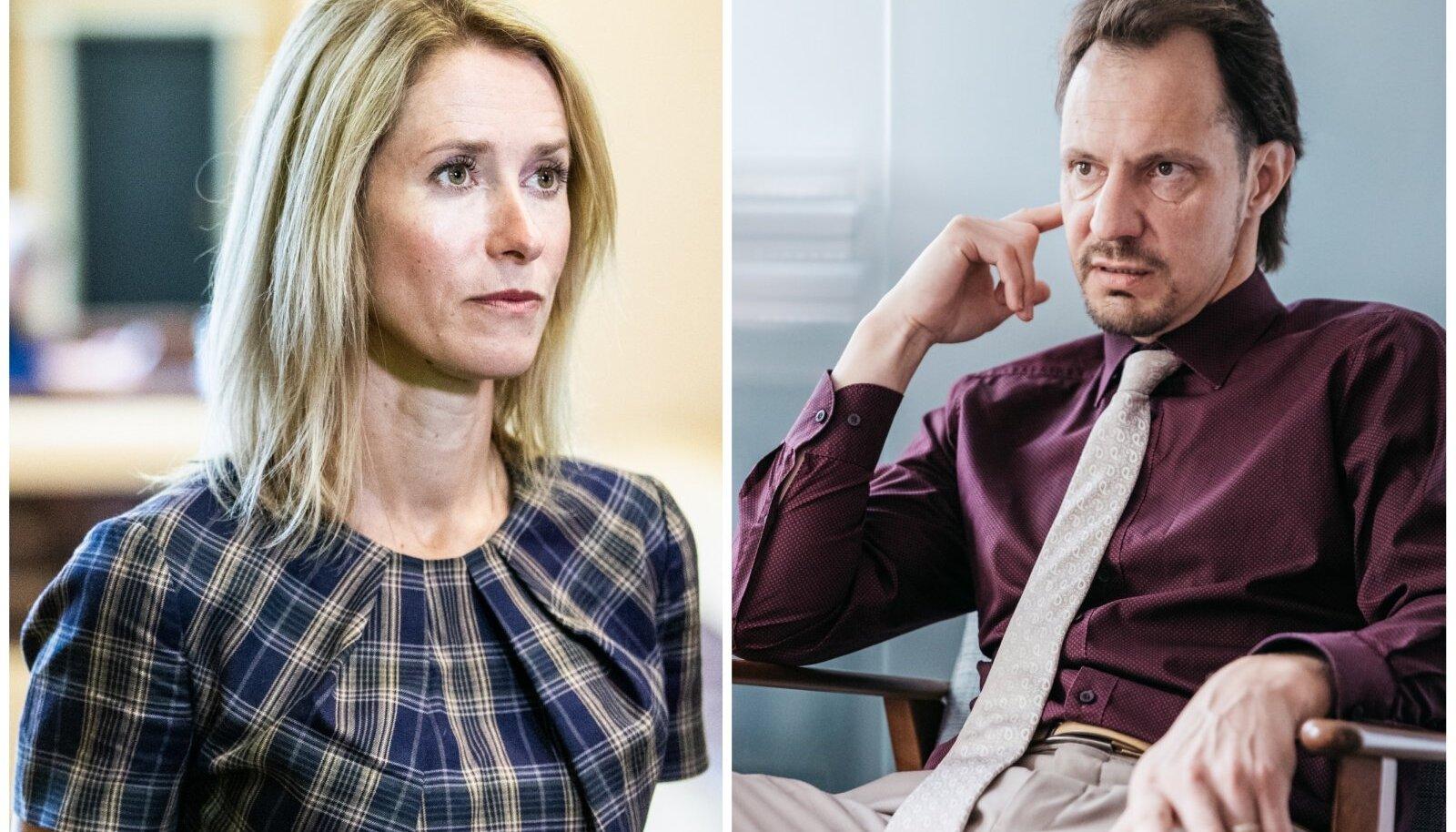 Kaja Kallas ja Indrek Saar