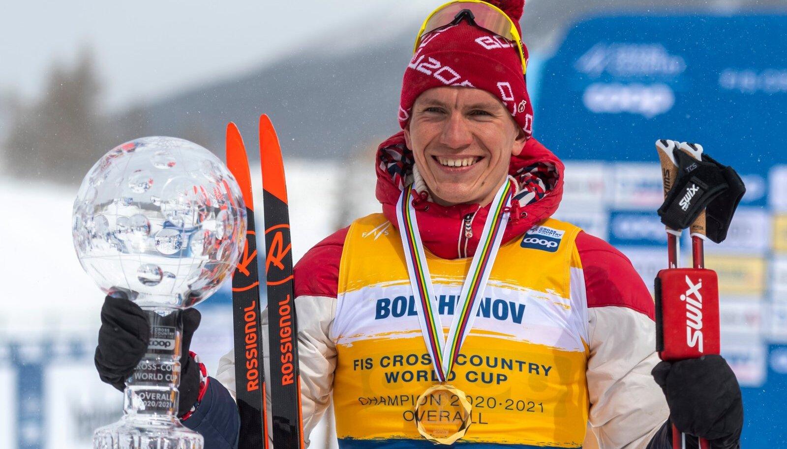 Aleksandr Bolšunov on kroonitud kahekordseks MK-sarja üldvõitjaks.