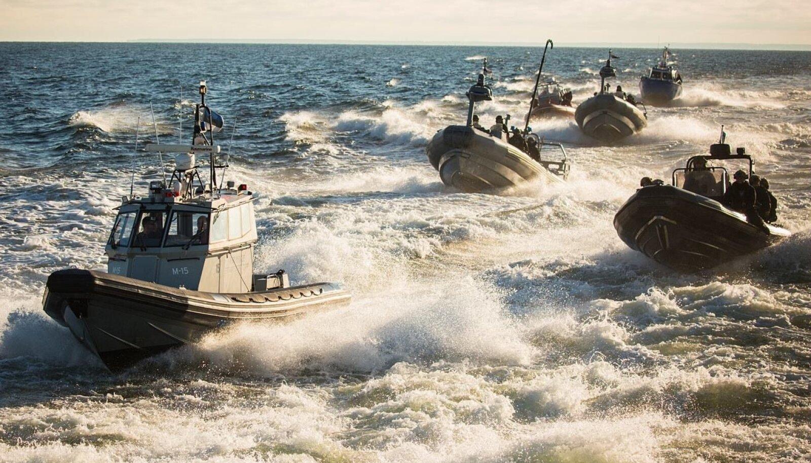 Eesti ja Soome eriüksused harjutasid 2016. aastal Tallinna-Helsingi liinilaeval puhkenud massikakluse lahendamist. Pilt on illustratiivne.