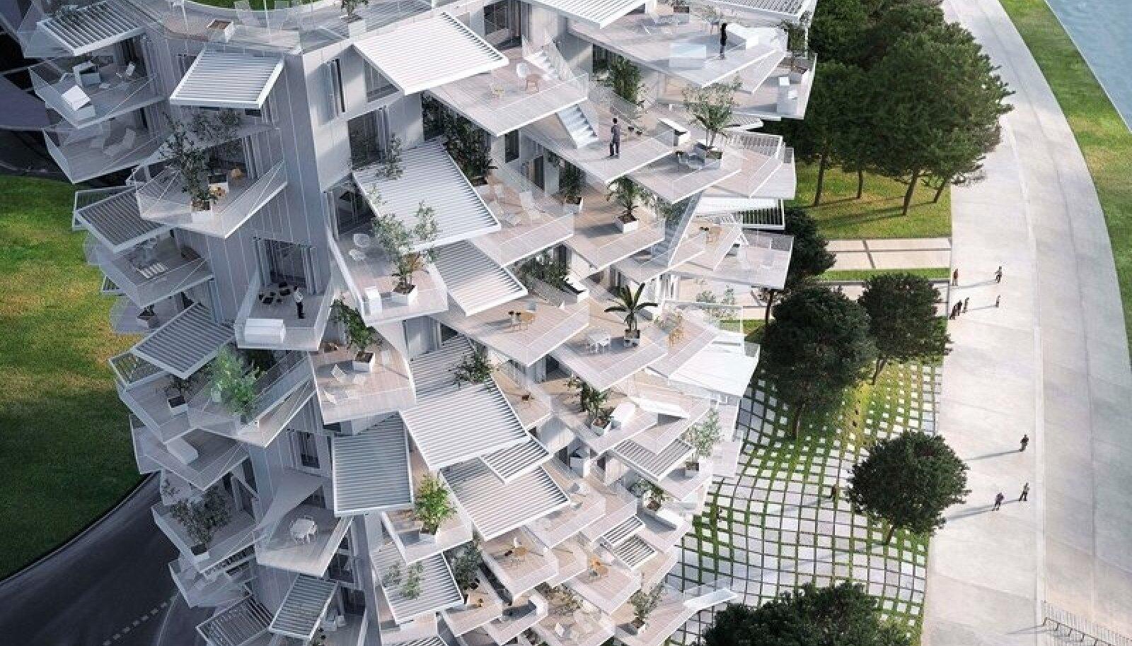 Korterelamu visioonlahendusega soovitakse anda Montpellier'le uus maamärk