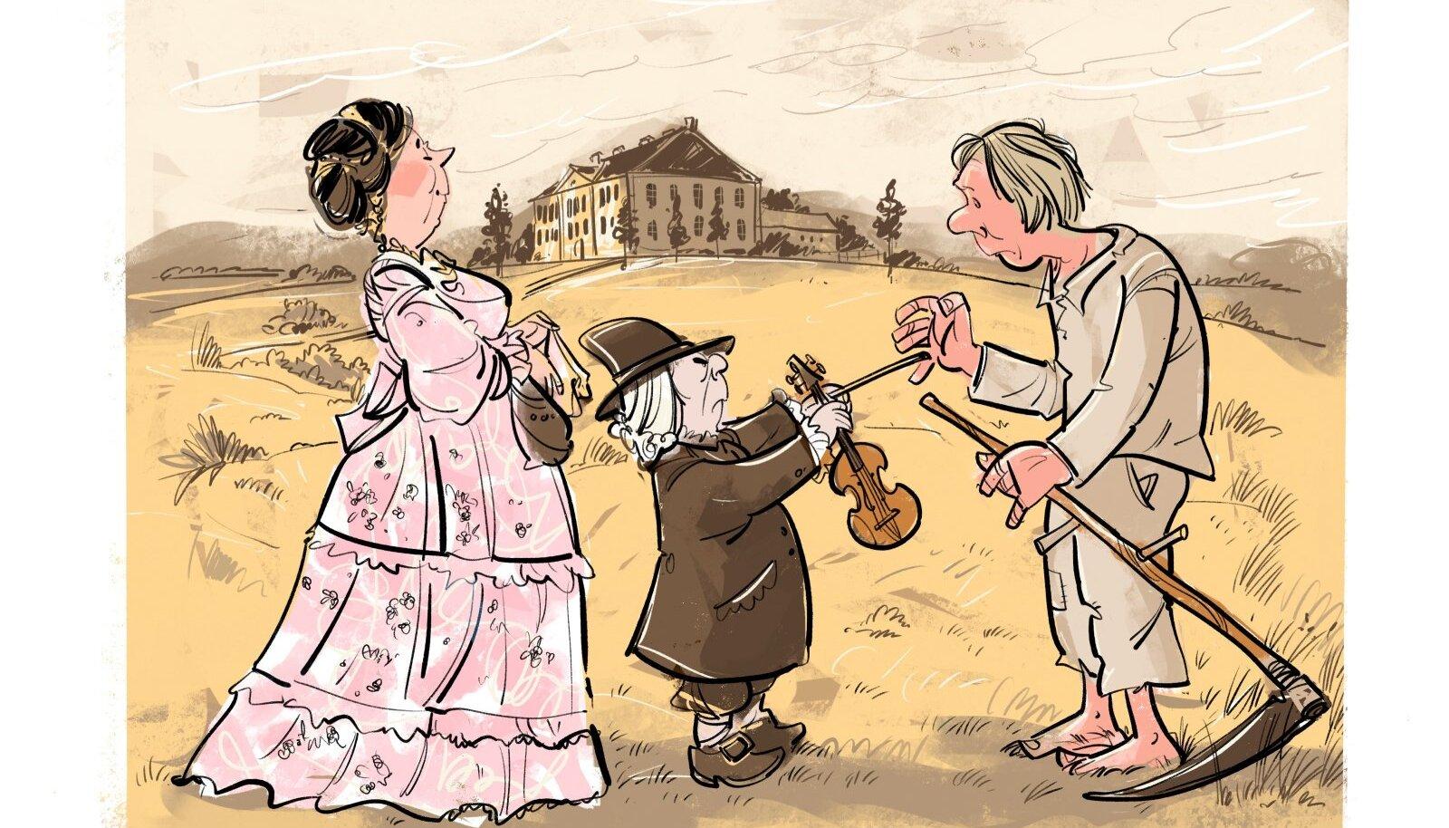 1782. aastal kohtus Elizabeth tšehhi päritolu muusikaõpetaja ja koorijuhi Wenzeslaus Anton Czihaliga. Temast saigi Voka mõisa pärisoriste talupoegade kapelli juhataja.