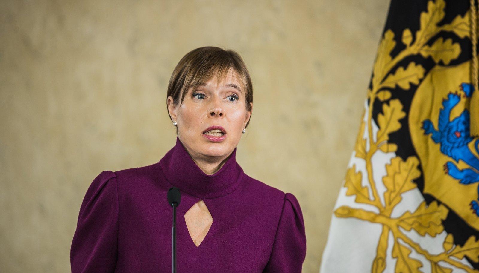 """President Kersti Kaljulaidi raamatu """"Sõna on vaba"""" esitlus Kadrioru lossis"""