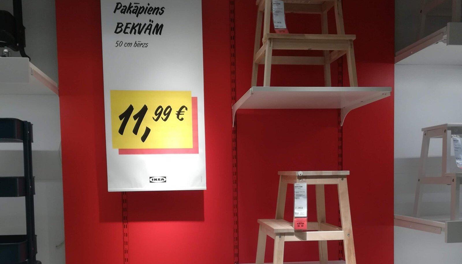 Taburet, mis kuulub soodsamate toodete hulka, on siiski Lätis kallim kui Soomes.