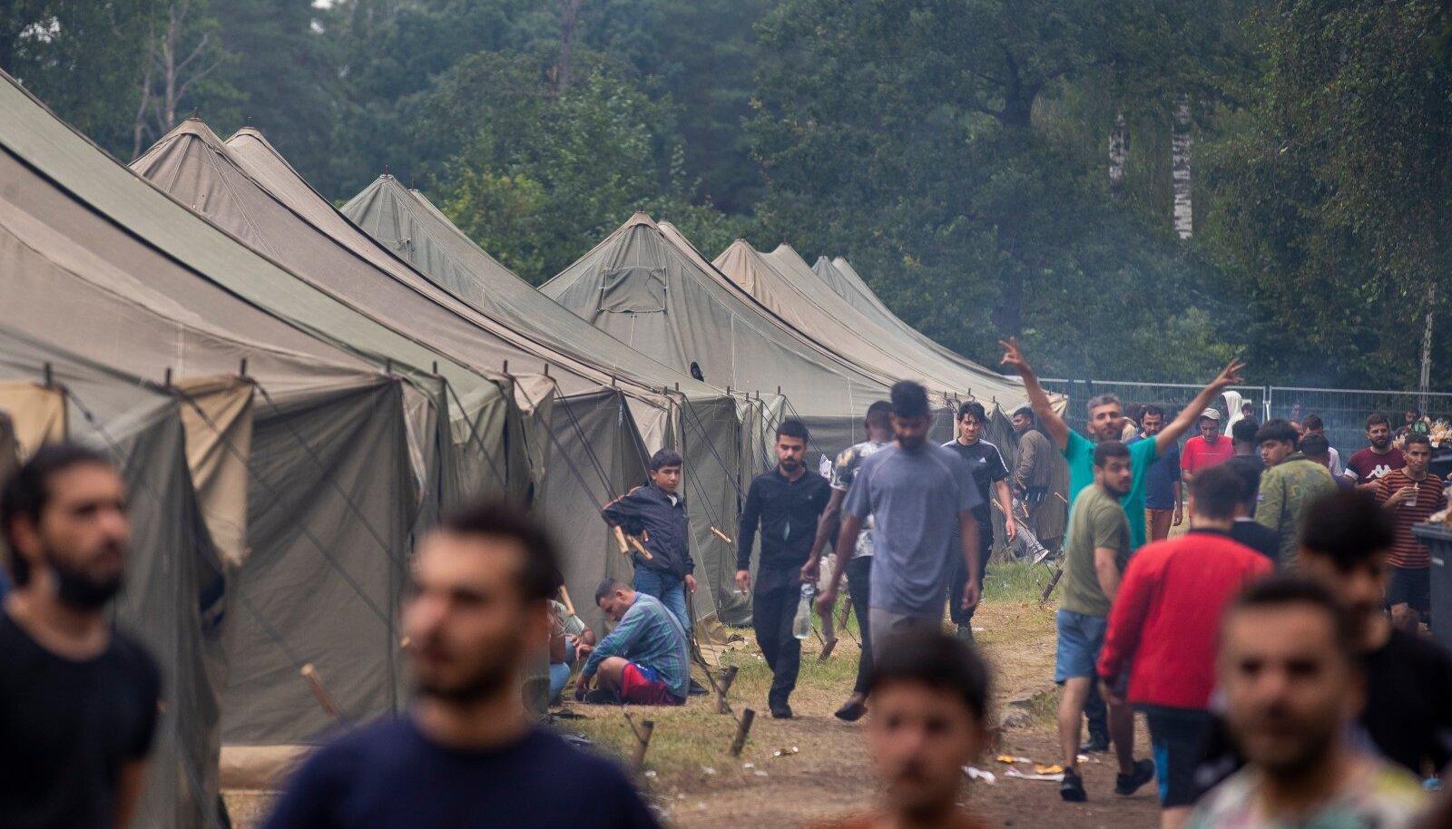 Äsja rajatud Rūdninkai laager kolmapäeval