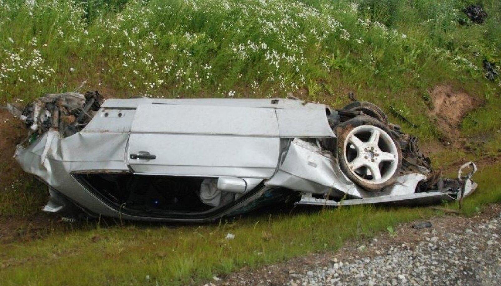 Õnnetuses osalenud auto