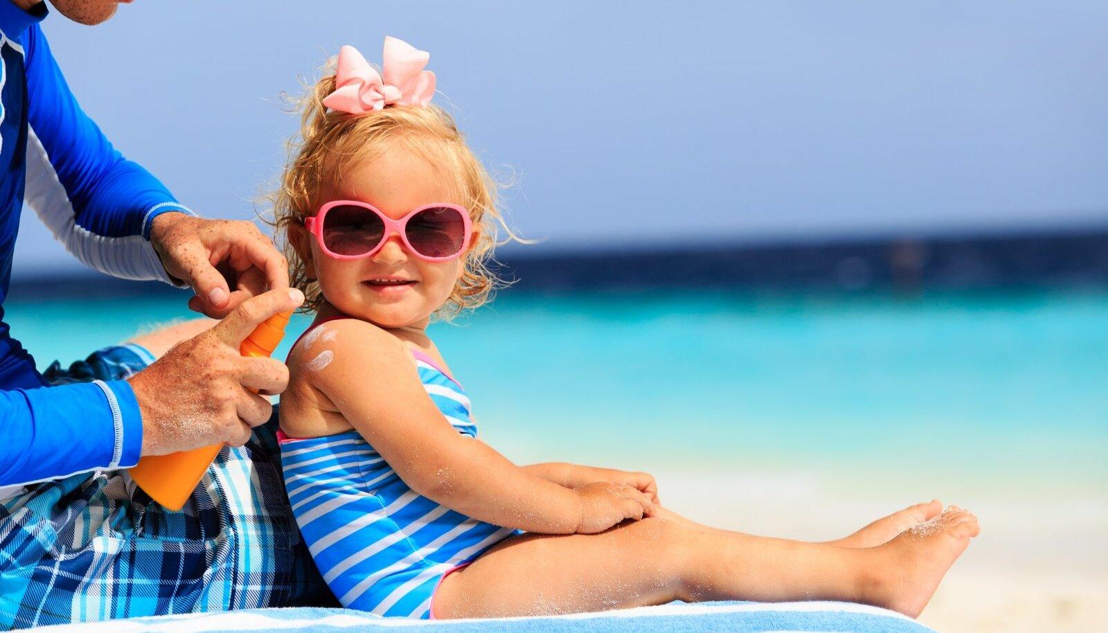 Laste ja vanurite päikesekaitsekreemi faktor peaks peaks olema vähemalt 30.