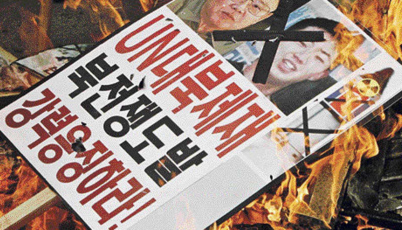 Lõuna-Korea protestijad on kandnud oma plakatitele juba ka noorema Kimi pildi, põhjas ei tea rahvas temast ilmselt veel midagi.