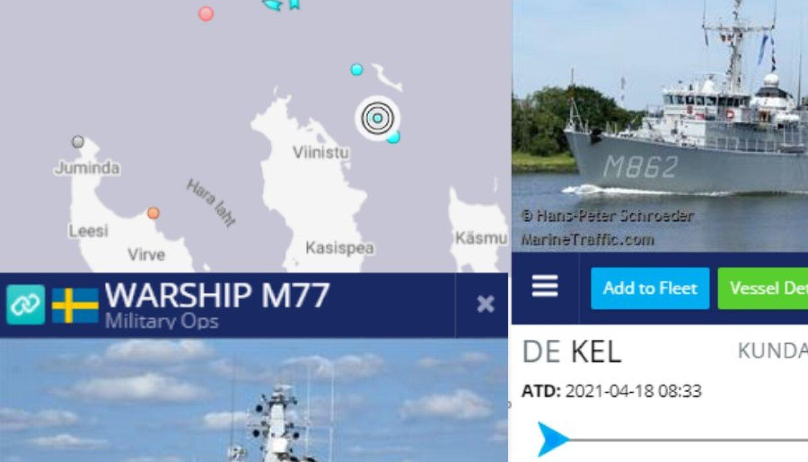Sõjalaevad Mohni ümber.
