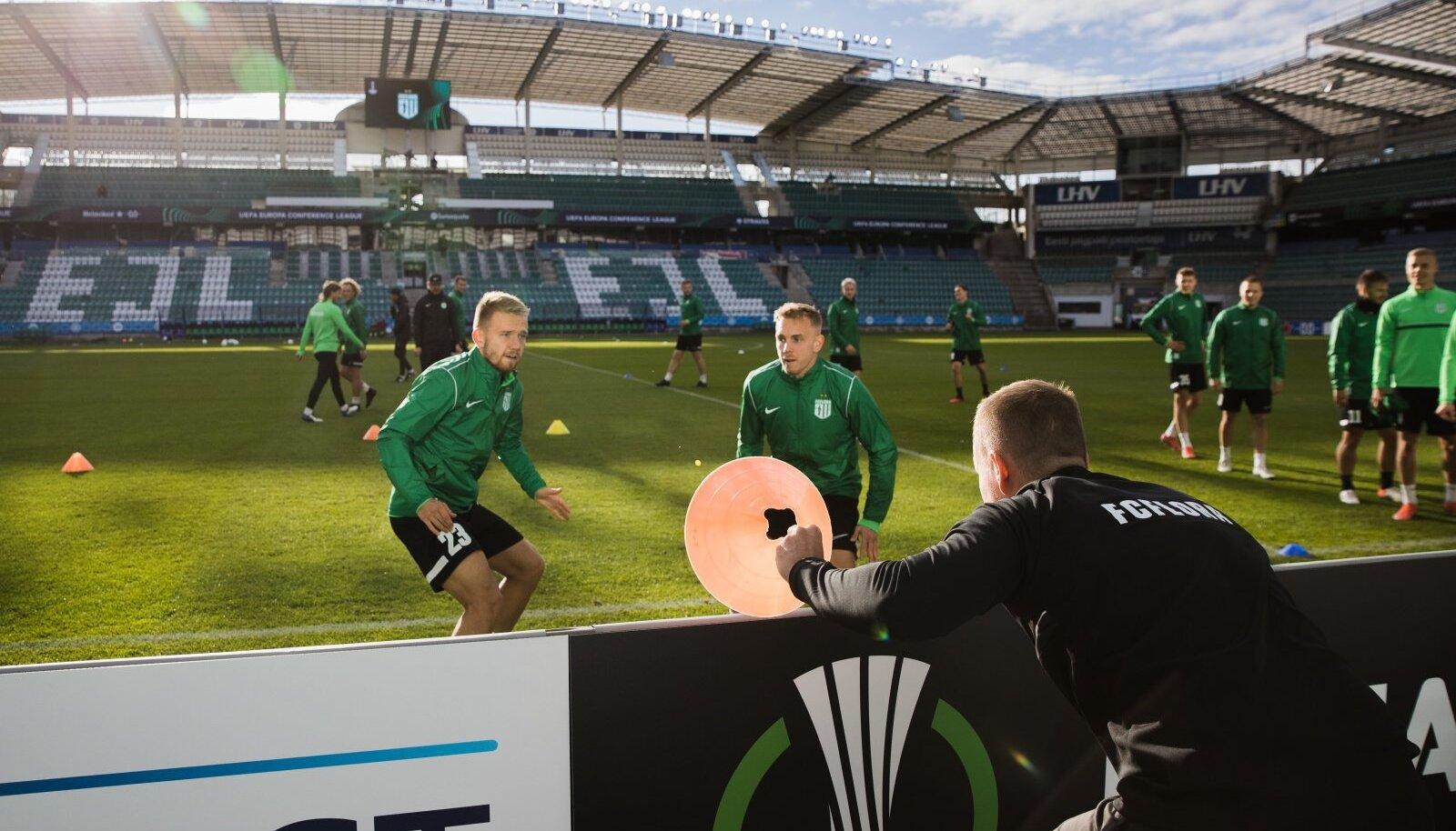 FC Flora treening enne kohtumist Kentiga
