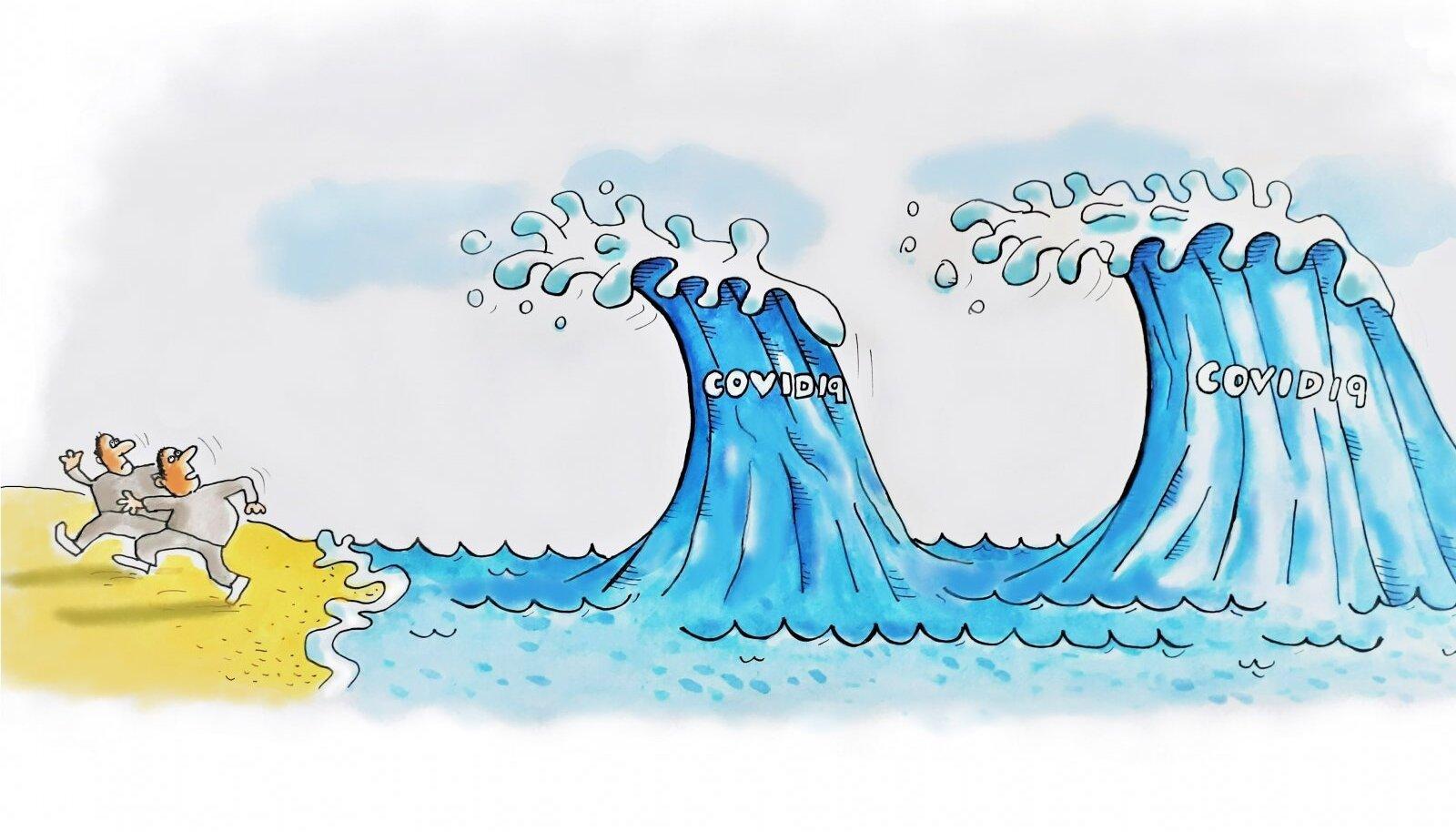 Kardetud taifuuni asemel jõudsid olümpiale koroonalained