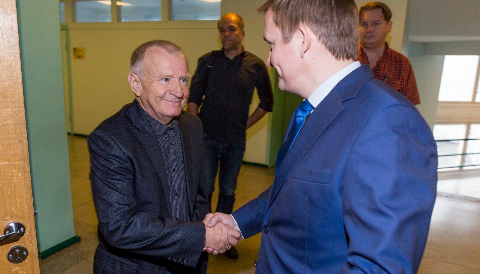 Väino Pentus ja Rain Rosimannus kohtus 21.10.2015