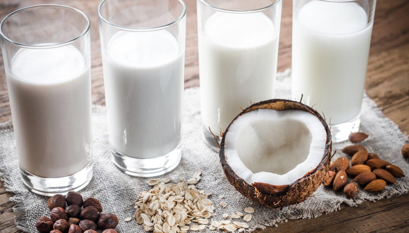 Veganpiima tehakse sojast, riisist, kaerast, kookosest, mandlitest.